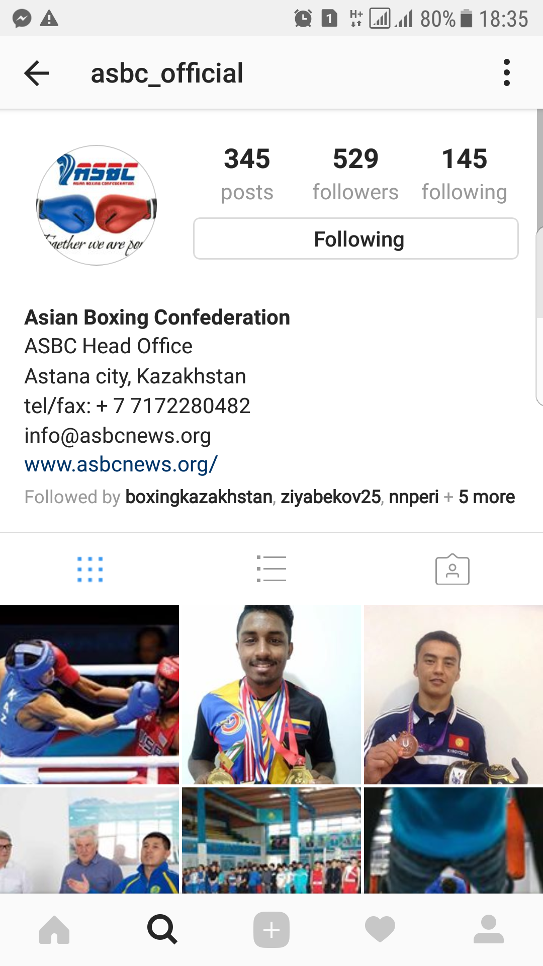 ASBC Instagram page